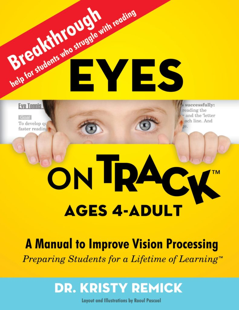 "Eyes on Track ™ – Ages 4- Adult (E-Book) Includes (FREE) 42 page PRINTABLE PACKET of Eyes On Track™ Detection Screening & ""Vision Practices"""